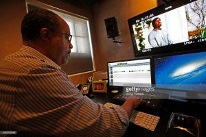 WEST HOLLYWOOD, CA. - AUGUST 14, 2013:Greg Hedgepath (CQ) is a supervising sound editor at Fomosa Group, a new post production sound editing company for the film industry in the Sawyer building on the former Samuel Goldwyn Studio lot in West Hollywood on August 14, 2013. (Anne Cusack/Los Angeles Times)
